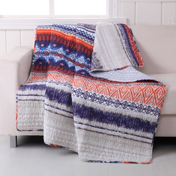 Greenland Home Fashions Urban Boho Quilted Cotton Throw
