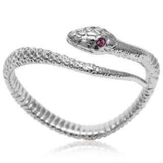 Red Crystal Snake Wrap Ring