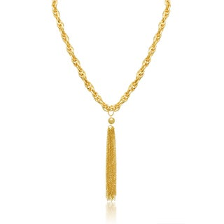 Gold Tassel Chain Necklace, 20 Inches