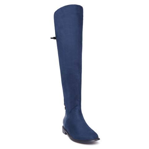 Women's 'Cynara' Low Heels Leg Boots