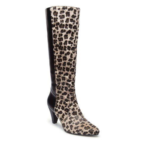 Ann Creek Women's 'Lillian' Leopard Print Faux Fur Boots