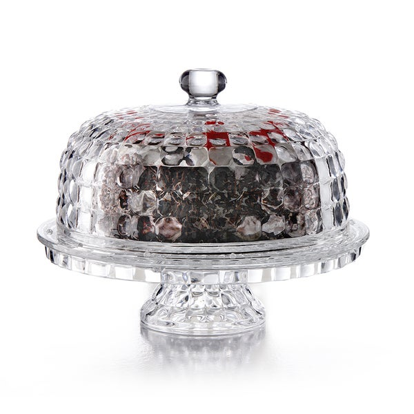 Shop Glass Cake Plate With Dome Lid Free Shipping On