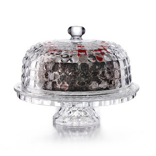 Glass Cake Plate with Dome Lid