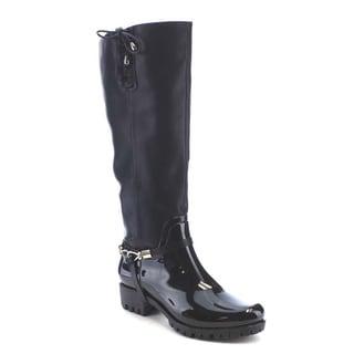 Beston AA72 Women's Fashionable Waterproof Under The Knee High Rain Boots