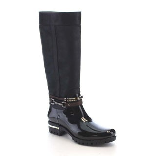 Beston AA73 Women's Side zipper Waterproof Under The Knee High Rain Boots