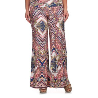 MOA Collection Women's Plus Size Palazzo Pants