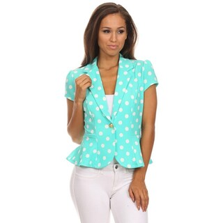 MOA Collection Women's Polka Dot Regular and Plus-size Flare Blazer (More options available)