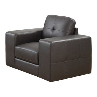 Monarch Brown Bonded Leather-Match Armchair