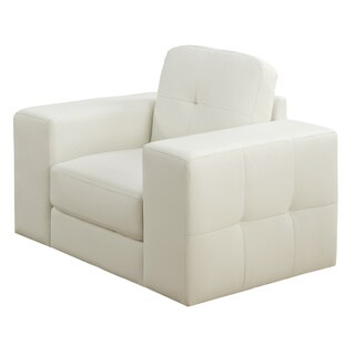 Monarch Ivory Bonded Leather Arm Chair