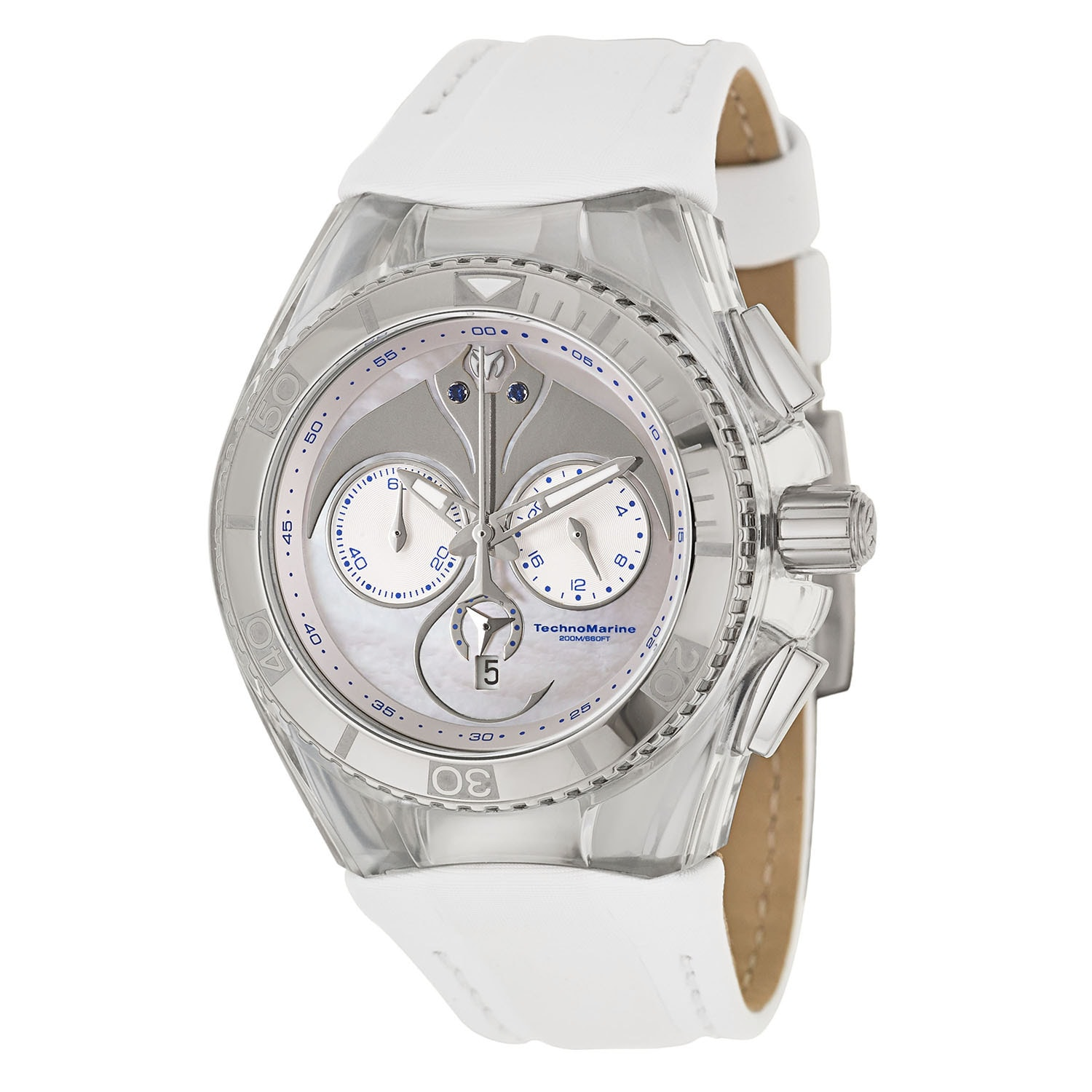 EDOX TechnoMarine Women's 113002 Silicone Watch (Watch), ...