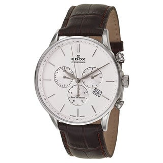 Edox Men's 10408-3A-AIN Leather Watch