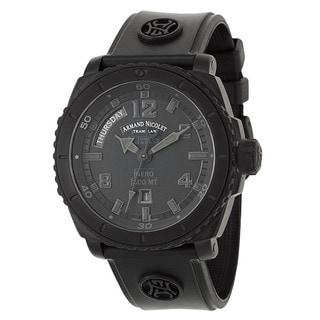 Armand Nicolet Men's T610AQN-NR-G9610 Rubber Watch