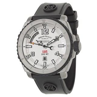 Armand Nicolet Men's T610AGN-AG-G9610 Rubber Watch