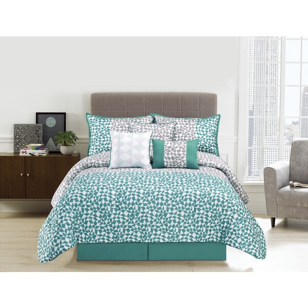 Picadilly Aqua Microfiber 7-piece Comforter Set