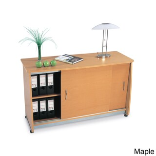 Laminate and Metal Sliding Door Credenza (3 options available)