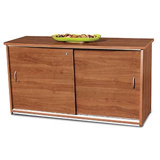 Laminate and Metal Sliding Door Credenza