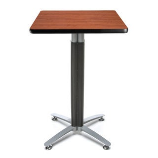 24-inch Square Metal Mesh Base Cafe Table