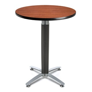 30-inch Round Metal Mesh Base Cafe Table