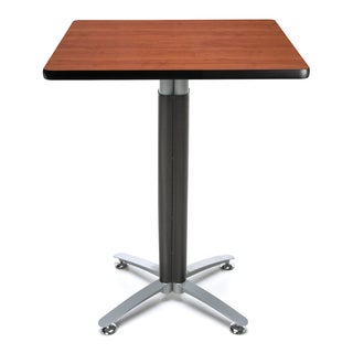 30-inch Square Metal Mesh Base Cafe Table
