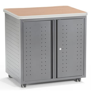 Mobile Locking Utility/Fax/Copy Table 30-inch x 23.25-inch