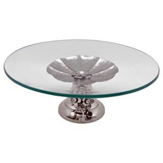 Round Platter On Metal Base