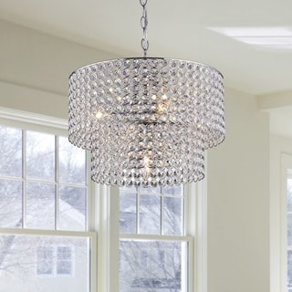 Ainhoa 5-light Chrome Double Round Crystal Chandelier