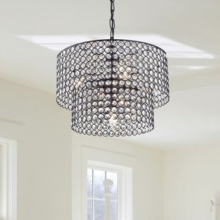 Ainhoa 5-light Antique Black Double Round Crystal Chandelier