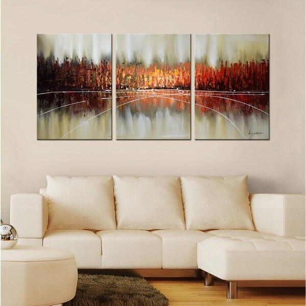 Pine Canopy Gunnison Hand Painted 3 Piece Gallery Wrapped Canvas Art Set