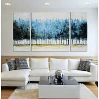 Hand-painted 'Mysterious Forest' Gallery-wrapped Canvas Art Set - multi