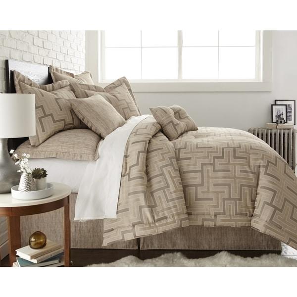 Austin Horn En'Vogue Maze Quartz Beige 4-piece Comforter Set