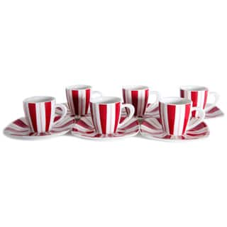 Tuxedo Rouge 3-ounce Tea Cup and Saucer (Set of 6) https://ak1.ostkcdn.com/images/products/10702124/P17762722.jpg?impolicy=medium