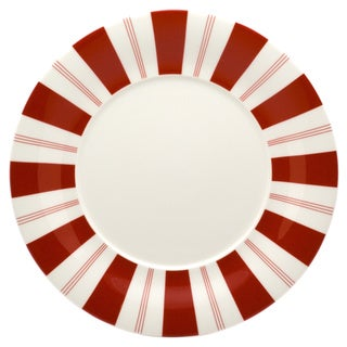Tuxedo Rouge 12-inch Round Platter (Set of 2)