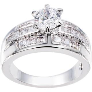 Simon Frank Designs Hand Set CZ Bridal Inspired Ring