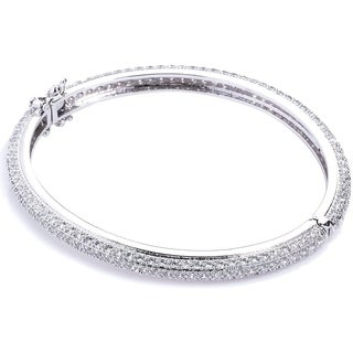 Simon Frank Collection Eternity Micro-pave Cubic Zirconia Bangle Bracelet