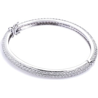 Simon Frank Collection Eternity Micro-pave Cubic Zirconia Bangle Bracelet
