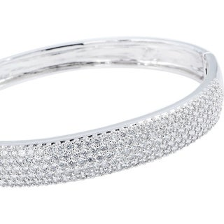 Simon Frank Collection 5-Row Cubic Zirconia Bangle Bracelet