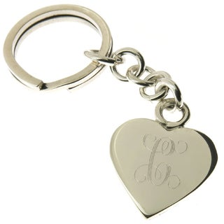 Handcrafted .925 Sterling Silver Personalized Heart Key Ring (Mexico)