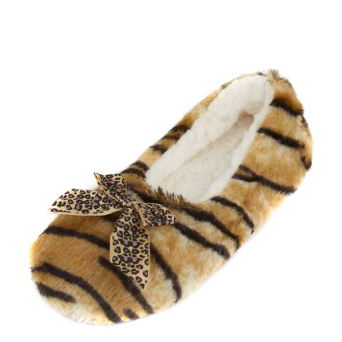 Leisureland Women's Fleece Lined Animal Cozy Slippers