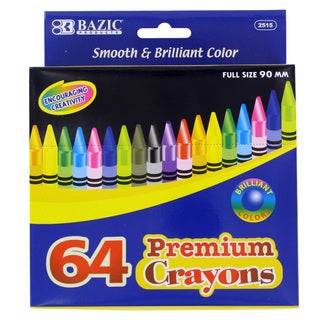 Bazic 64-Count Premium Assorted Crayons