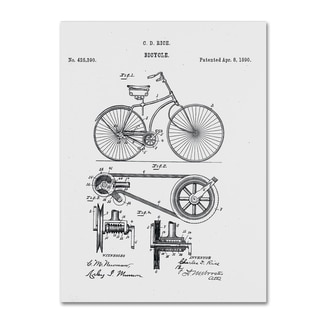 Claire Doherty 'Bicycle Patent 1890 White' Canvas Wall Art