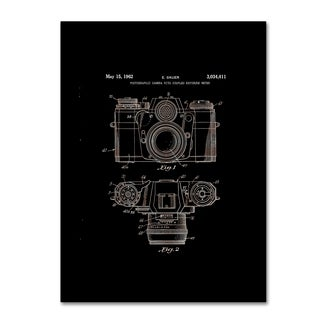 Claire Doherty 'Photographic Camera Patent 1962 Black' Canvas Wall Art