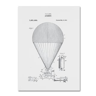 Claire Doherty 'Airship Patent 1913 White' Canvas Wall Art