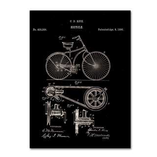 Claire Doherty 'Bicycle Patent 1890 Black' Canvas Wall Art
