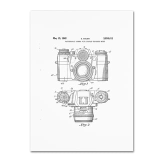 Claire Doherty 'Photographic Camera Patent 1962 White' Canvas Wall Art