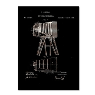 Claire Doherty 'Photographic Camera Patent 1885 Black' Canvas Wall Art