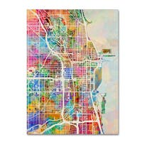Michael Tompsett 'Chicago City Street Map' Canvas Wall Art