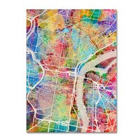 Michael Tompsett 'Philadelphia Pennsylvania Street Map' Canvas Wall Art