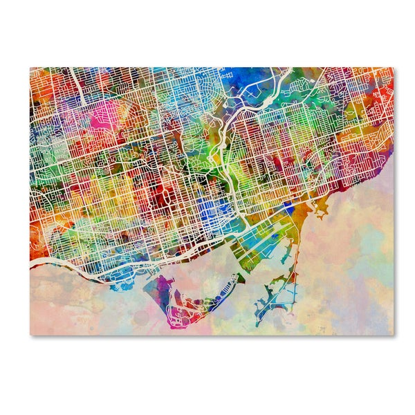 Michael tompsett toronto street map canvas wall art free michael tompsett x27toronto street mapx27 gumiabroncs Choice Image