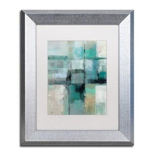Silvia Vassileva 'Island Hues Crop I' White Matte, Silver Framed Wall Art