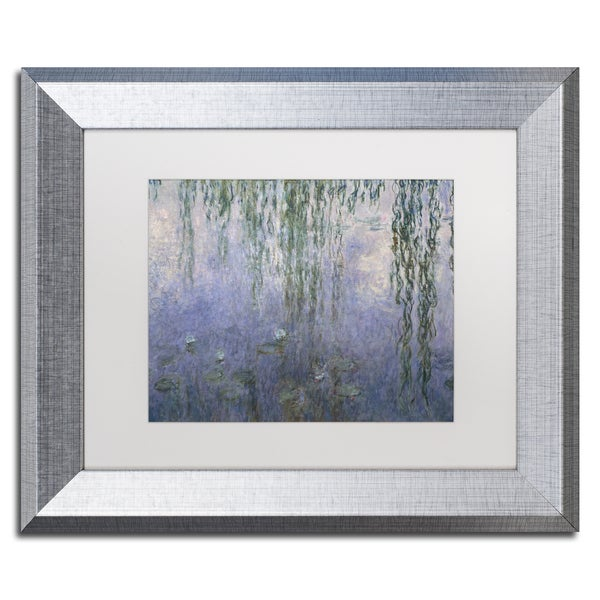 Shop Claude Monet \'Water Lilies III 1840-1926\' White Matte, Silver ...